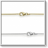 Snake Chain 1.00mm 14K White gold, yellow gold or rose gold