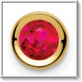 2.10 carats Ruby Solitaire Pendant - 14K Yellow Gold