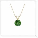 0.30 Carat green Diamond 14K gold Pendant
