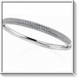 Bracelet Esclave en Or blanc 14 Kt 4.41 ct de Diamants