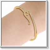 Bracelet Esclave en Or jaune 18 Kt 0.80ct de Diamants