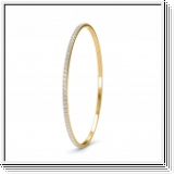 Bracelet Esclave en Or jaune 18 Kt 1.15ct de Diamants