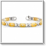 Bracelet Diamants - 2.00 Cts. Diamants  Or Jaune et Or Blanc 14K