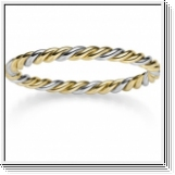 Bangle Bracelet 14K white gold and yellow gold 60mm x 50mm