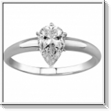 1.00 Quilates Diamante Anillo Solitarios 14k oro blanco D SI1