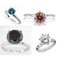 Diamond rings round cut