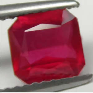 1.74 Carat Madagascar Ruby emerald cut