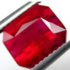4.12 Carat Madagascar Ruby emerald cut