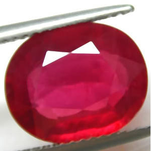 5.75 Carat Madagascar Ruby oval cut