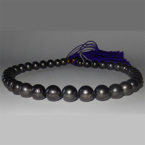 Black Tahitian pearl necklace 10.00 to 12.00mm