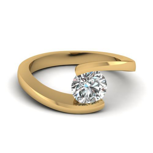 Diamant Bague Avignon 2.00 Ct. Or jaune 14K ou 18K