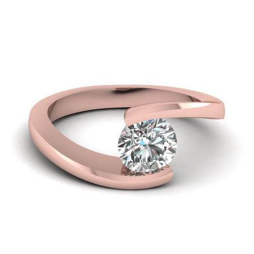 Diamant Bague Avignon 0.50 Ct. Or rose 14K ou 18K
