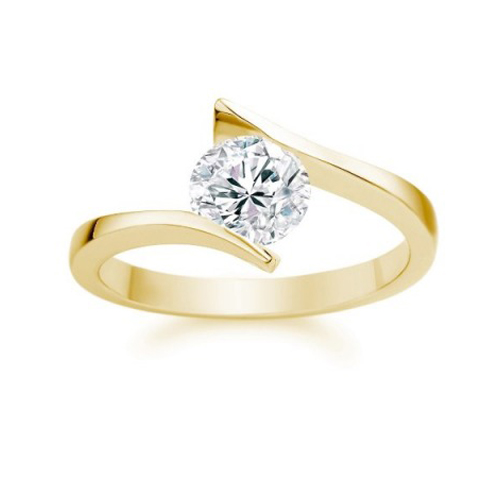 Diamant Bague Bordeaux 1.00 Ct. Or jaune 14K ou 18K