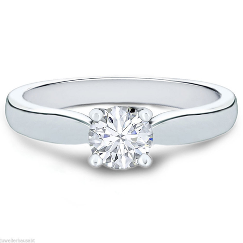 0.50 CT. D/SI1 DIAMOND RING 18K GOLD + GIA CERTIFICATE