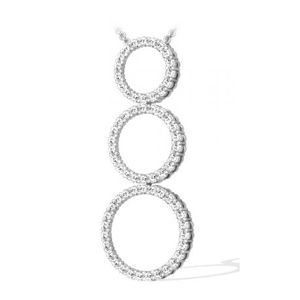 1.00 CTS. DIAMANTS CERCLE PENDENTIF OR BLANC