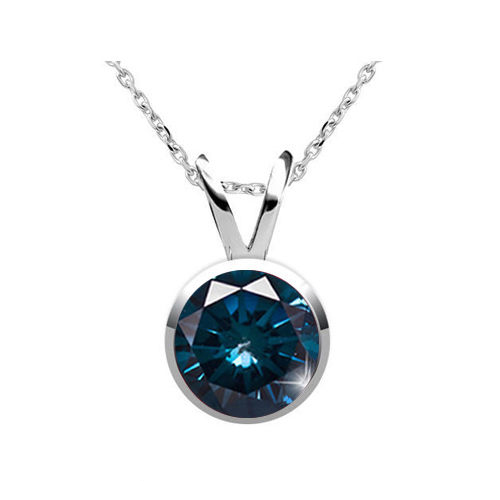 0.25 Carat blue Diamond 14K gold Pendant