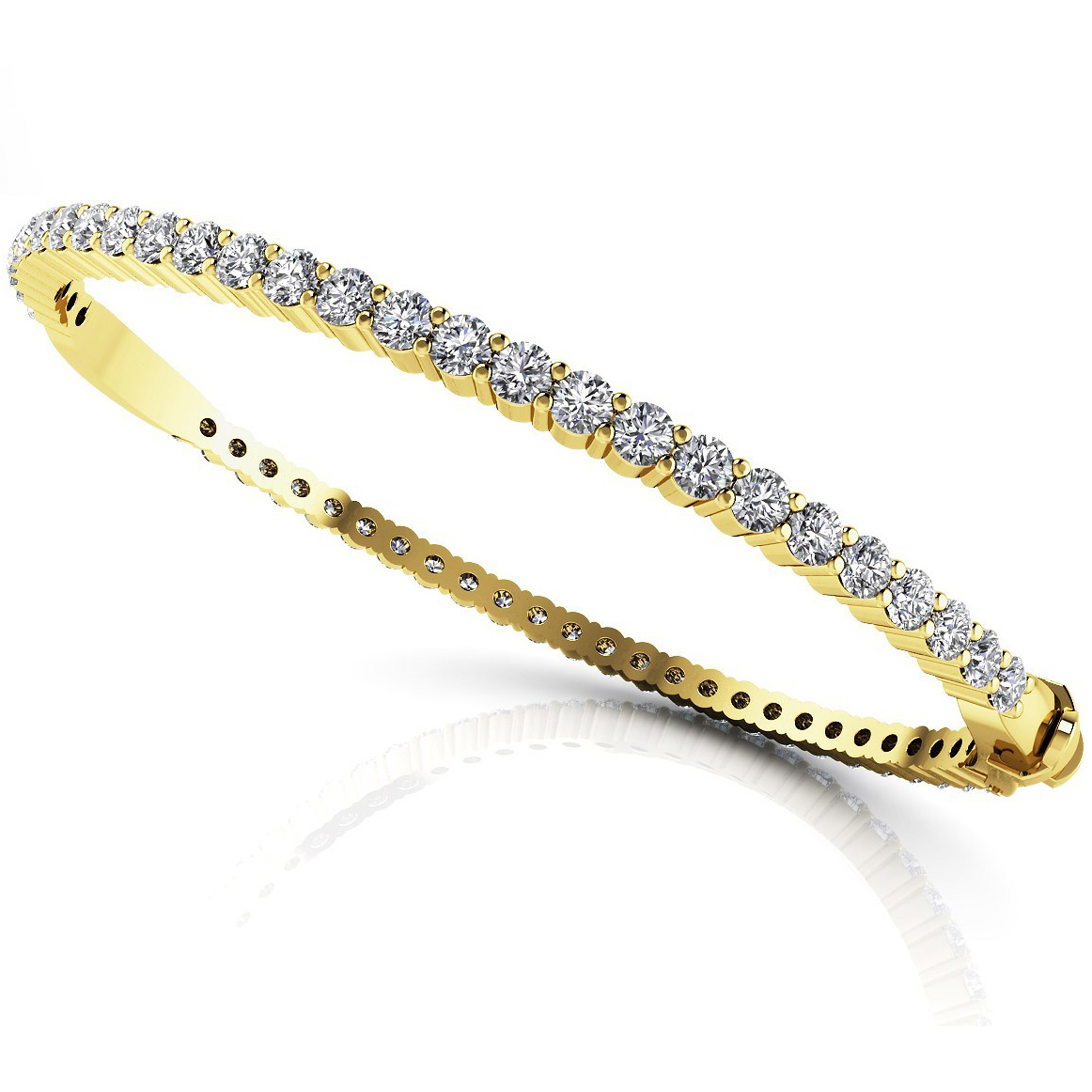Diamond Bangle 3.25 Carat Brilliants 18K yellow Gold