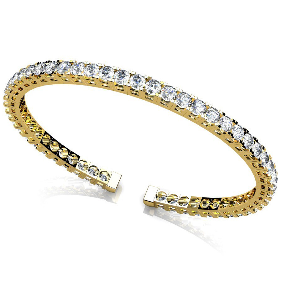 Diamond Bangle 5.50 Carat Brilliants 18K yellow Gold