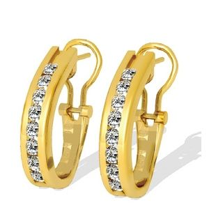 1.00 Ct. Diamond Earrings - 14 K yellow gold