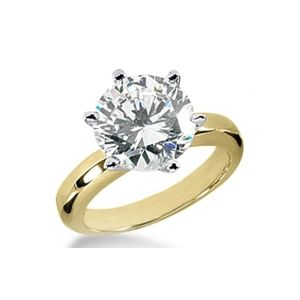1/2 CT GH/SI ROUND DIAMOND ENGAGEMENT RING 14K GOLD
