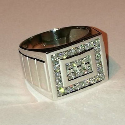 2.00 CT ROUND WHITE DIAMOND MEN'S RING