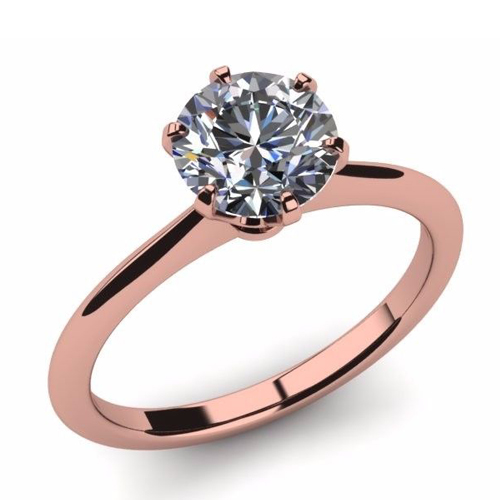 Diamant Bague Nizza 2.00 Ct. Or rose 14K ou 18K