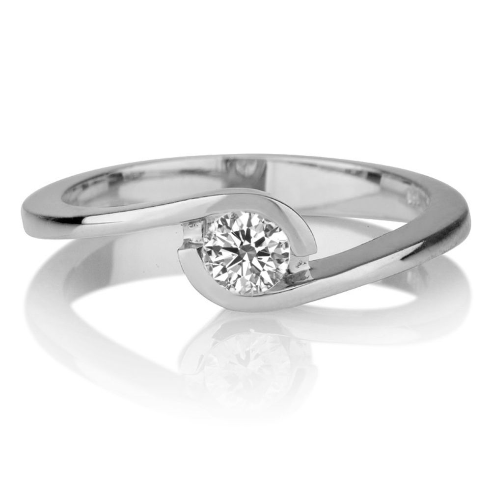 Diamond Ring 0.25 Ct. Diamond 18K White Gold