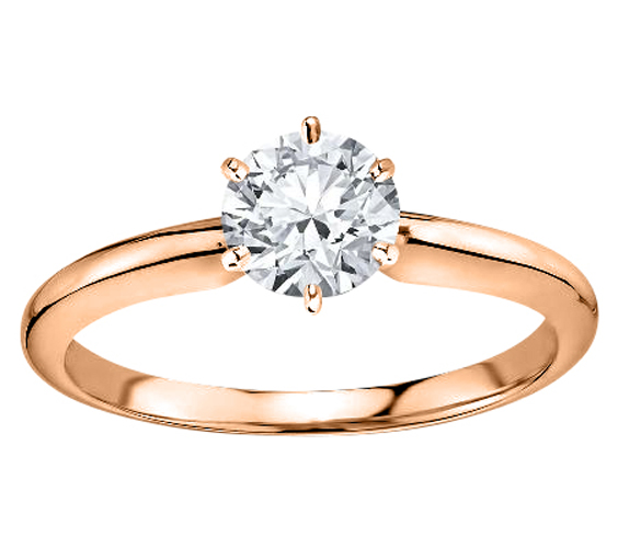 DIAMOND RING 14K ROSE GOLD + GIA CERTIFICATE
