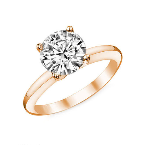 Diamant Bague Paris 1.00 Ct. Or rose 14K ou 18K