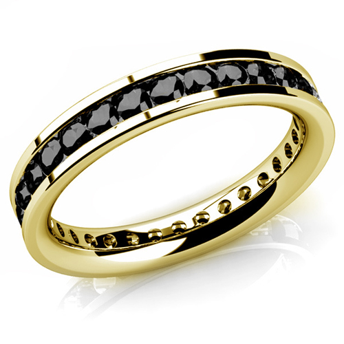 Diamant Ring Memory 1.00 Karat schwarze Diamanten