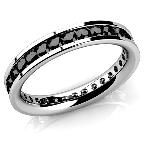 Diamant Ring Memory 2.00 Karat schwarze Diamanten