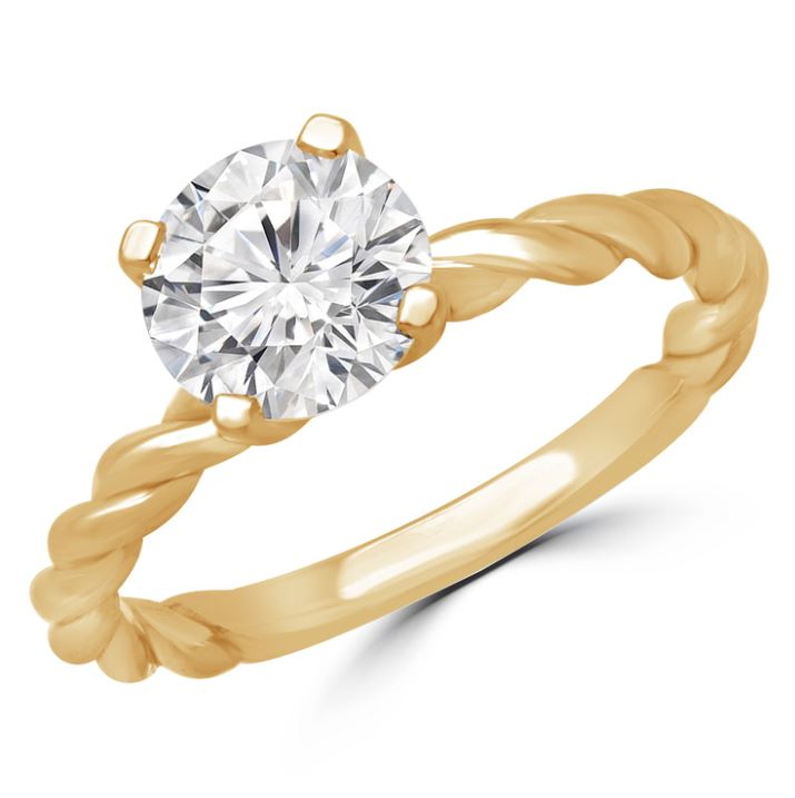0.40 CT. D SI1 DIAMOND RING 14K GOLD + GIA CERTIFICATE