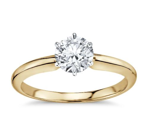 0.50 CT. D/SI1 DIAMOND RING 14K GOLD + GIA CERTIFICATE