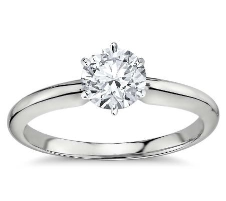 DIAMOND RING 14K WHITE GOLD + GIA CERTIFICATE