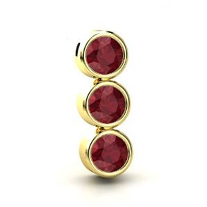 6.30 carats Ruby Pendant - 14K Yellow Gold