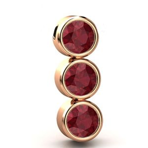 6.30 carats Ruby Pendant - 14K Rose Gold