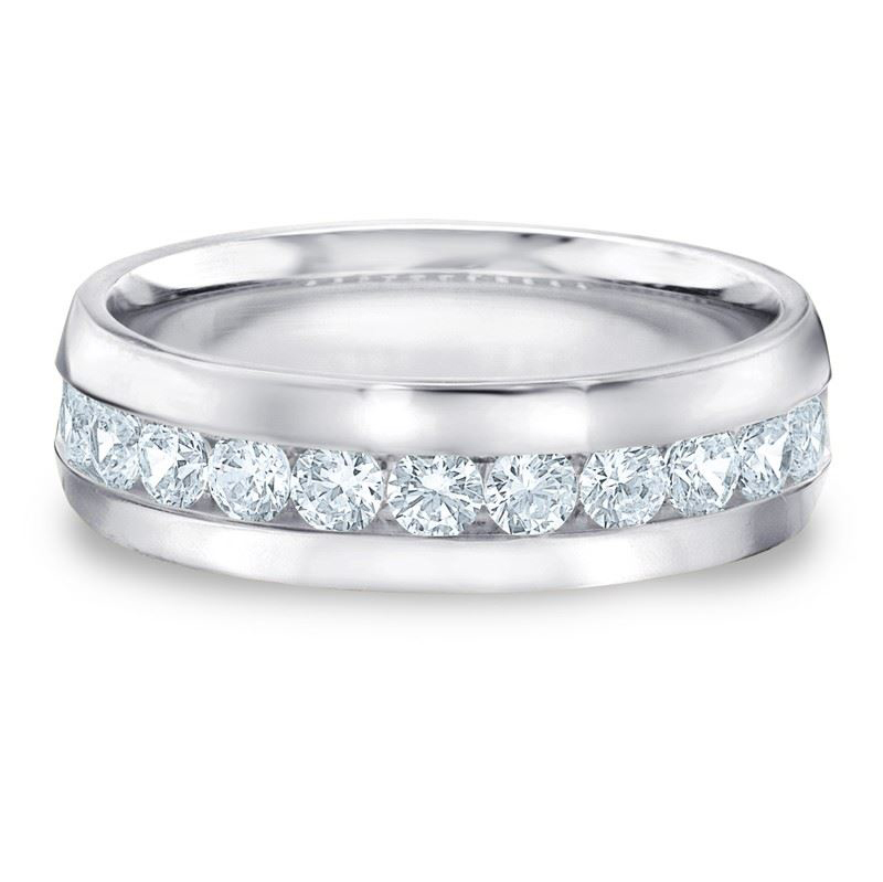 2.00 Carat Diamants Bague Homme 14K Or blanc