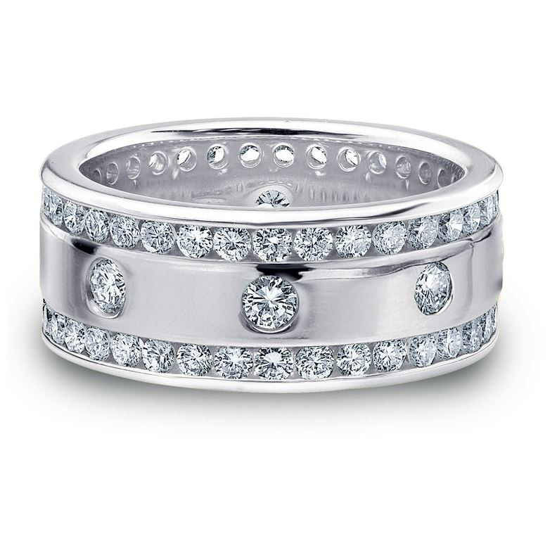 2.00 CT ROUND WHITE DIAMOND MEN'S RING WHITE GOLD