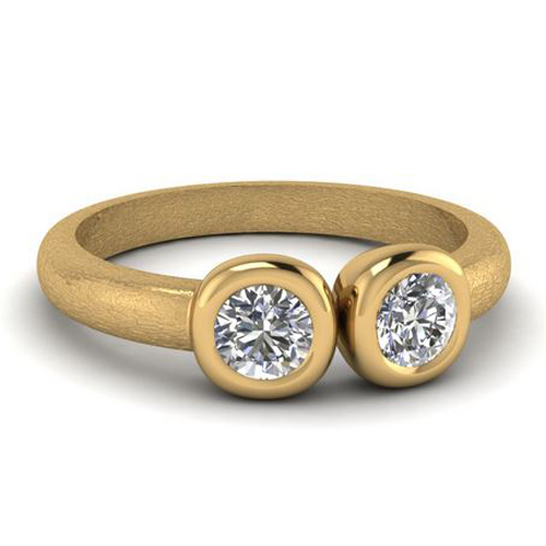 Bague de diamant Dijon 0.26 carat 14K ou 18K or jaune