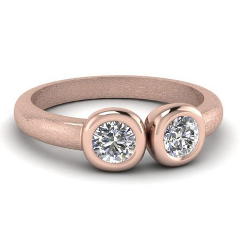 Bague de diamant Dijon 0.30 carat 18K or rose
