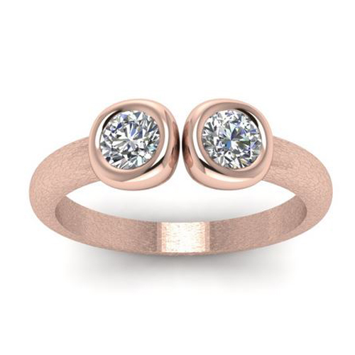Diamond ring Toronto 0.30 carat 18K rose gold