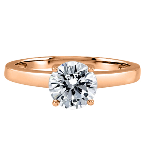 Diamond Ring 2.00 Ct. Diamond 14K or 18K Rose Gold