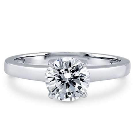 Diamond Ring 1.00 Ct. Diamond 14K or 18K White Gold
