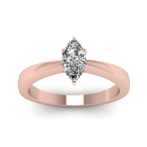 0.50 Ct. D/SI1 MARQUISE CUT DIAMOND RING 14K ROSE GOLD