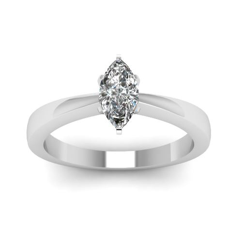 1.00 Ct. D/SI1 MARQUISE CUT DIAMOND RING 14K WHITE GOLD