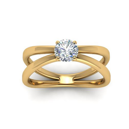 Diamond Ring Miami 2.00 Ct. Diamond 14K or 18K Yellow Gold