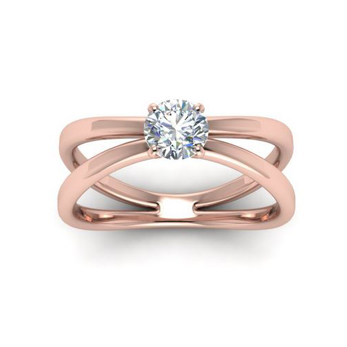 Diamond Ring Miami 1.00 Ct. Diamond 14K or 18K Rose Gold