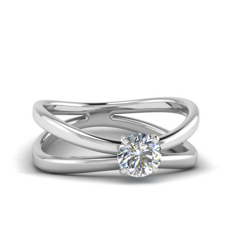 Diamond Ring Miami 0.50 Ct. Diamond 14K or 18K White Gold