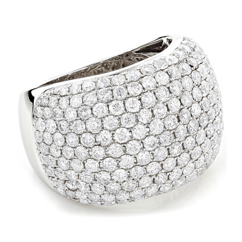 BAGUE OR GRIS 14K AVEC 5.50 CT. BLANC NATUREL DIAMANTS
