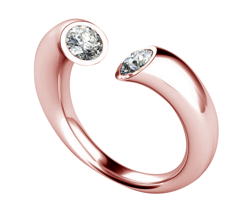 Diamond ring Atlanta 0.20 carat 14K or 18K rose gold